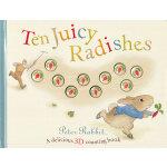 Peter Rabbit: Ten Juicy Radishes 美味的10个萝卜-彼得兔幼儿认知书(3D数数书)ISBN 9780723266969