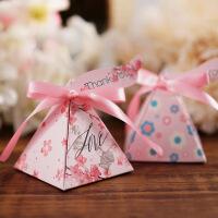 2019新款喜糖盒欧式婚礼糖盒结婚喜糖礼盒糖果喜糖包装盒纸盒批发 7.2*7.2*7.5CM