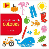 Mix and Match Colours 混搭 颜色 英文原版进口 儿童纸板趣味书 亲子早教互动游戏书 0-3岁低幼英语启蒙图书