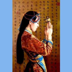 著名油画艺术家,福建油画协会常务理事曾新伟(祈福2)
