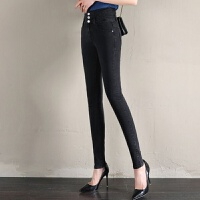 韩版牛仔裤女长裤黑色小脚裤修身弹力铅笔女裤子4色可选择 25 码