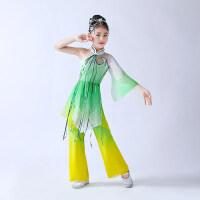2018新款儿童古典舞蹈演出服女孩伞舞扇子舞表演服装女民族舞服装 图片色