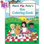 【中商海外直订】Parri, Pip, Pete's Fun Coloring Book