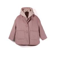【限时购】女童外套呢大衣可爱女童秋冬时髦深秋中大童外套