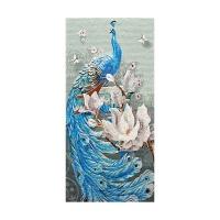 马赛克装饰画马赛克瓷砖拼图轻奢现代简约玄关客厅蓝色孔雀精剪画装饰画背景墙 其他尺寸