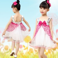六一儿童演出服新款女童公主裙舞蹈服幼儿裙纱裙幼儿园表演服装 玫红色 100cm