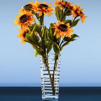 花瓶摆件玻璃水晶透明大号欧式客厅水培富贵竹百合插花玻璃花盆