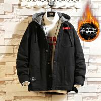 冬季新款潮牌工装棉衣男士韩版加绒加厚棉服潮流学生棉袄外套