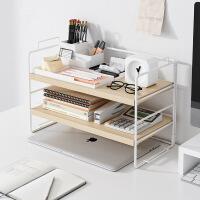 【阿吉家】书架办公室简易书桌上柜子桌面整理收纳铁艺置物架学生创意小书架