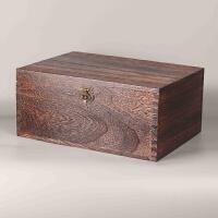 带锁木箱复古长方形整理储物箱收纳盒大号木箱子木质盒子匣子 小号