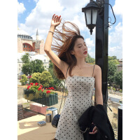 普吉岛沙滩裙女海南三亚海边度假泰国旅游超仙显瘦性感吊带连衣裙 米杏色