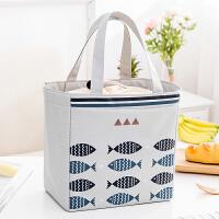 饭盒袋保温袋便当袋帆布大号带饭的手提袋手拎防水加厚铝箔保温包