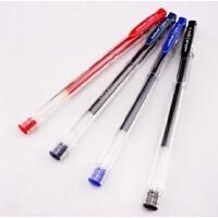 日本进口UNI三菱签字笔 UM-100 水性笔/经典中性笔 0.5MM 红黑蓝
