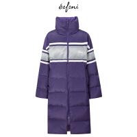 【商场同款】伊芙丽冬装新款韩版长款羽绒服外套女118A189252