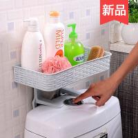 免打孔浴室置物架壁挂卫生间用品吸壁式吸盘厕所马桶塑料收纳架