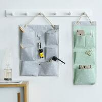 布艺收纳挂袋 防水大号储物袋多层挂墙置物袋门后壁挂式帆布袋