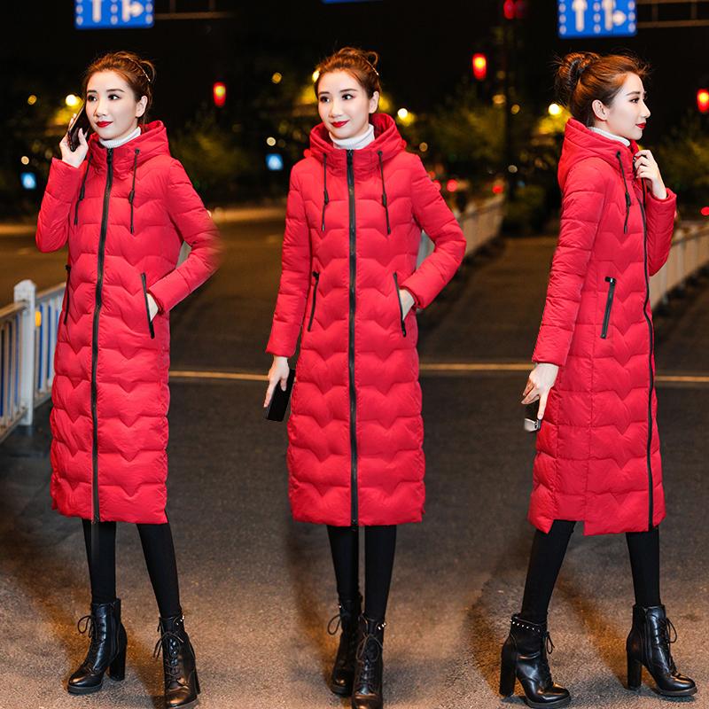 实拍棉衣棉服女冬装2019年新款韩版网红羽绒棉袄中长款厚冬季外套