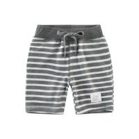 童装夏季儿童短裤裤子 男童中裤中小童五分裤条纹莱卡棉