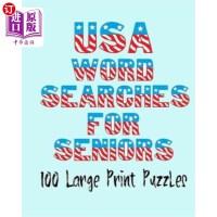 【中商海外直订】USA Wordsearches for Seniors: 100 Large Print Puzzl