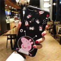 iphone6S手机壳8Plus卡通 苹果X超薄浮雕7P硅胶套子5女款外壳挂绳