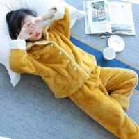 女童睡衣法兰绒绒厚秋冬款儿童家居服套装小女孩大童洋气公主