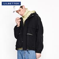 2.5折价:168;Lilbetter工装夹克男复古宽松连帽外套春秋装新款上衣ins潮牌外衣
