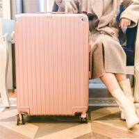 拉杆箱万向轮旅行箱24学生密码箱包登机皮箱子26寸男女行李箱韩版 玫瑰金 复古款 20寸