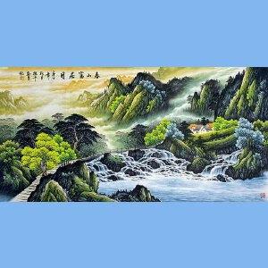 中美协会员,国家一级美术师,中央国宾礼*艺术家角振平(春山福居图)