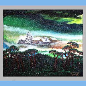 张大千真传弟子之一,中国国家风水画首席大师,著名书法家画家,中国书法家协会副主席,中国艺术书画院特聘画家(雪飘北极)