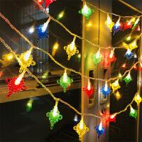 led彩灯 闪灯串灯小灯笼结婚喜庆过新年装饰灯春节挂灯中国结彩灯 彩色 10米插电款中国结