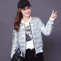 棉衣亮面棒球女冬短款小棉袄外套韩版学生加厚修身