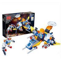 【小颗粒】邦宝 益智拼插积木儿童玩具航天太空反方战舰2号6413