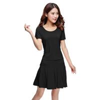 广场舞服装裙装拉丁舞裙子短袖短裙套装舞蹈服莫代尔夏季新款