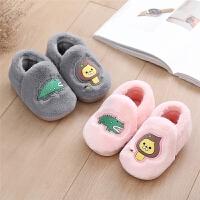 棉拖鞋棉鞋1-3岁儿童女童冬季可爱包跟软底小孩男童fang滑宝宝保暖
