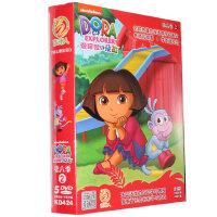 新版朵拉dvd高清碟爱探险的朵拉第6季2 5DVD儿童双语动画光盘