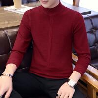 半高领毛衣男针织羊毛混合毛线衣青年长袖套头秋冬学生弹力打底衫
