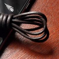 棉打蜡正装皮鞋靴子圆形鞋带黑色咖啡色3.0直径可配金属头 黑色3.0密60厘米