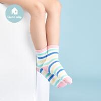 【用券满129立减30】3双装都市丽人儿童内衣都市贝比儿童袜子女童短筒袜春秋学生袜
