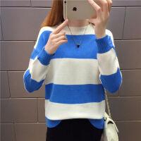 秋冬季毛衣女短款加绒加厚2019韩版宽松套头针织打底衫上衣潮 S 建议85-95斤左右