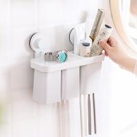 卫浴套装卫生间免打孔毛巾置物架厕所挂件套装收纳架吸盘壁挂