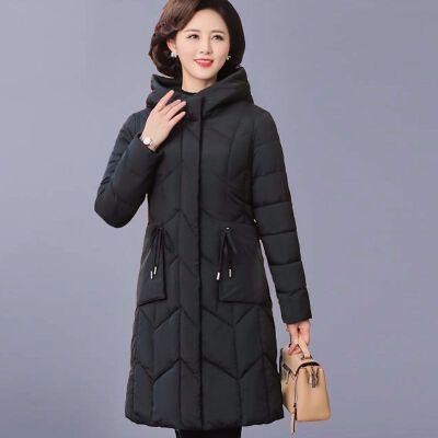 中老年妈妈装中长款棉衣女中年女装冬装加厚大码外套