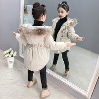 儿童棉衣外套2018新款加厚中长款棉服保暖冬季上衣女孩