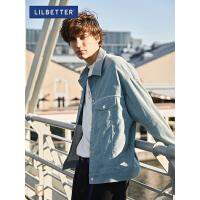 2.5折价:117;Lilbetter男士外套韩版潮流秋装新款灯芯绒教练夹克休闲复古男装
