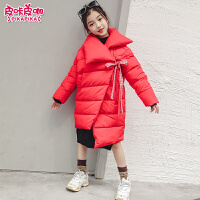 儿童中长款棉衣冬季2018新款韩版加厚洋气外套女孩潮