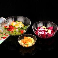 无铅钢化玻璃碗蔬菜水果沙拉碗盆饭碗汤面碗套装微波炉果盘大小号