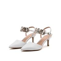 【领券减120】D:Fuse/迪芙斯新款羊皮包头商场同款女凉鞋DF71111063