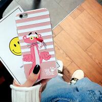 粉红豹手机壳苹果6s硅胶软iphone7plus保护套卡通可爱8x女款防摔