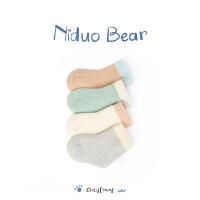 2018新款男宝宝袜子0-6-12个月秋冬棉婴儿袜子