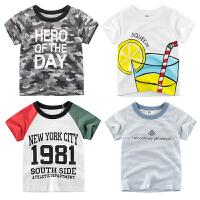 韩版童装夏季男童女童T恤短袖 宝宝衣服儿童服装
