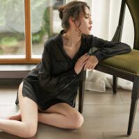 性感睡衣女冬季睡裙长款衬衫宽松大码家居服SM火辣情趣内衣诱惑 均码